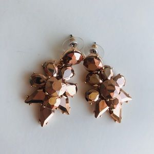NWT J CREW Gold rose statement earring
